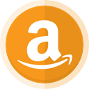 Buy online, online store, Amazon, amazon logo, sell online Goldenrod icon