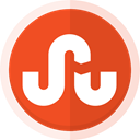 social media, sharing, stumbleupon logo, Stumbleupon OrangeRed icon