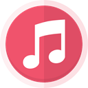 Audio, itunes logo, itunes, itunes store, music, music note, Apple IndianRed icon