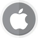 Apple, technology, Macbook, Imac, ipad, apple logo LightSlateGray icon