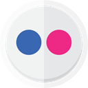 flickr logo, photos, photography, flickr, online sharing Lavender icon