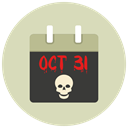october 31, Calendar, halloween LightGray icon
