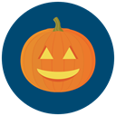 halloween, happy, pumpkin MidnightBlue icon