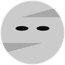 halloween, mummy LightGray icon