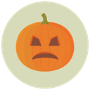 halloween, pumpkin LightGray icon