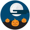 halloween, night, pumpkins MidnightBlue icon