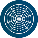 spider, web, halloween DarkSlateGray icon