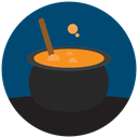 halloween, witch cooking MidnightBlue icon