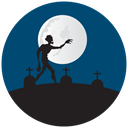 Grave yard, halloween, graves, zombie MidnightBlue icon