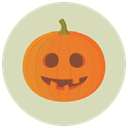 pumpkin, Goofy, halloween LightGray icon
