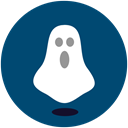 Ghost, shocked, halloween MidnightBlue icon