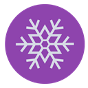 Snow, christmas, winter, snowflake DarkOrchid icon