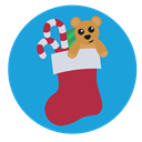 teddy, stocking, christmas, presents DodgerBlue icon