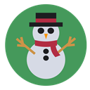 christmas, Cold, snowman, frozen, frosty SeaGreen icon