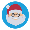 christmas, saint nick, santa, father christmas DodgerBlue icon