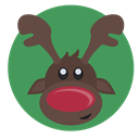 red nose, reindeer, christmas, rudolph SeaGreen icon