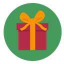 Box, gift, christmas, present, wrapped SeaGreen icon