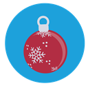 christmas, decoration, bauble DodgerBlue icon