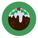 fruit cake, christmas, food, pudding, Dessert SeaGreen icon