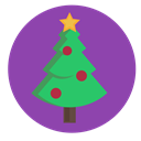 christmas, star, Tree, bauble, evergreen, decorated DarkOrchid icon