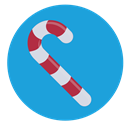 Candy, Cane, christmas, sweet DodgerBlue icon