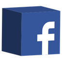 media, cube, Social, set, Facebook DarkSlateBlue icon