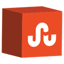 Social, set, cube, Stumbleupon, media Chocolate icon