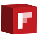 cube, set, Flipboard, media, Social Firebrick icon