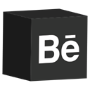 Behance, cube, media, Social, set DarkSlateGray icon