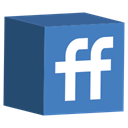 Social, Fiendfeed, cube, media, set SteelBlue icon