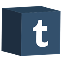 set, Tumblr, media, cube, Social DarkSlateGray icon