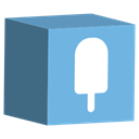 cube, Social, Fancy, media, set SkyBlue icon