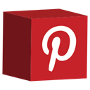 media, pinterest, Social, set, cube Firebrick icon