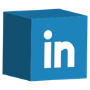 set, Social, cube, media, Linkedin SteelBlue icon