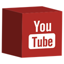 media, cube, set, Social, youtube Brown icon