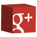 media, set, cube, Social, google Firebrick icon