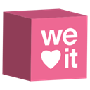 cube, media, Weheartit, set, Social Icon