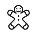 gingerbread-man, gingerbread, christmas, Candy, cookie, Man Icon