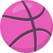 Dribble, Flat-icons HotPink icon