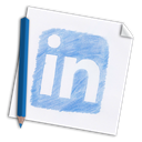 In, network, Social, colour pencil, paper, hand-drawn, linked-in, Linkedin, pencil, linked, hand drawn, Color pencil, media, Page WhiteSmoke icon