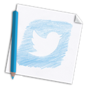 Social, Page, paper, twitter, pencil, hand drawn, network, hand-drawn, Color pencil, media, bird, colour pencil Icon