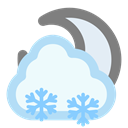 Moon, Cloudy, Snow AliceBlue icon