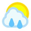 Cloud, Rain, sun AliceBlue icon