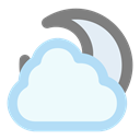 Moon, Cloudy AliceBlue icon