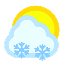 sun, Cloudy, Snow Azure icon
