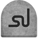 Social, halloween, October, grey, spooky, Stone, rock, social media, grave, media, Creepy, Cold, evil, ghosts, Logo, tombstone, graveyard, tomb, witch, gray, Stumbleupon, Boo, scary DarkGray icon