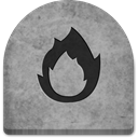 tombstone, evil, Ember, halloween, gray, ghosts, rock, tomb, Creepy, Social, witch, media, grave, social media, Cold, Boo, scary, spooky, graveyard, October, grey, Stone DarkGray icon