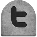 twitter, rock, Creepy, spooky, halloween, October, Stone, gray, evil, media, grave, Boo, Cold, scary, witch, Social, tomb, tombstone, ghosts, social media, graveyard, grey DarkGray icon