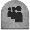 grave, evil, Myspace, spooky, graveyard, October, ghosts, Social, media, Creepy, scary, tomb, Cold, Stone, gray, witch, grey, social media, Boo, halloween, rock, tombstone DarkGray icon