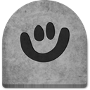 Cold, grave, scary, social media, media, gray, Creepy, witch, Stone, Social, grey, evil, ghosts, rock, tombstone, tomb, smile, Boo, graveyard, October, spooky, halloween DarkGray icon